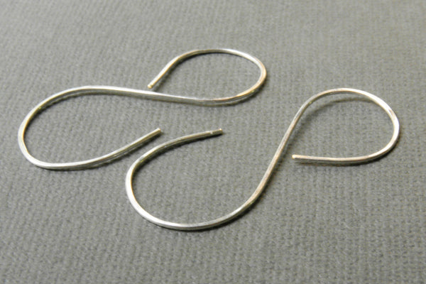 Silver Infinity Symbol Hoop Earrings | Minimalist Hammered Hoop Dangle Earrings