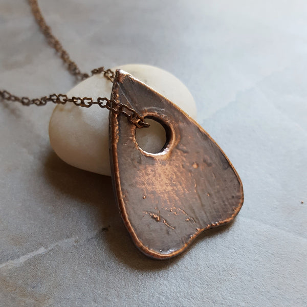 Copper Electroformed Ouija Board Planchette Pendant Necklace