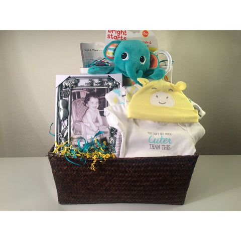 Gift baskets boxes trays the humble butterfly elephant and me baby shower delight gift set negle Images