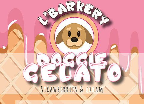 L'Barkery - Doggie Gelato Strawberries & Cream