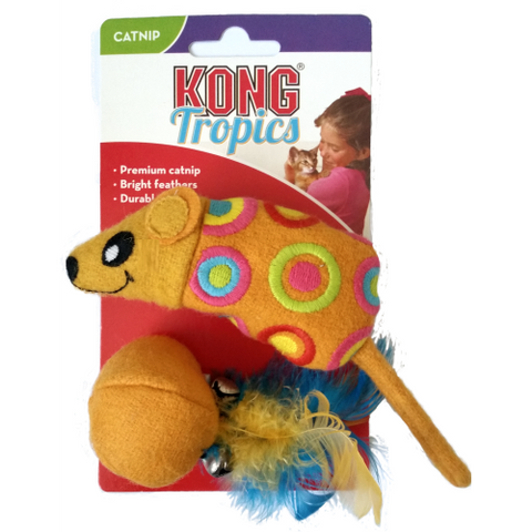 Kong Tropics Mouse Ball Cat Toy