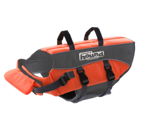 Outward Hound Ripstop Life Jacket with Rescue Handle
