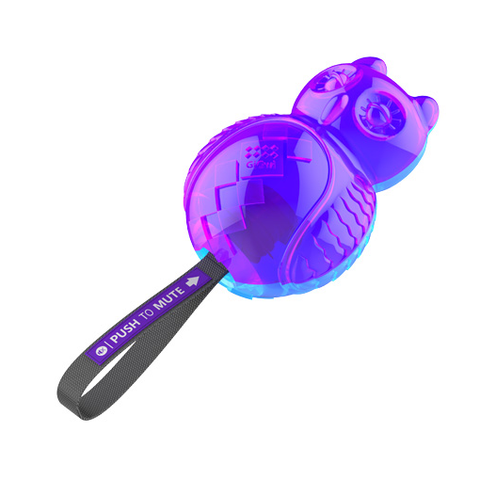Gigwi Push To Mute Owl - Blue/Purple