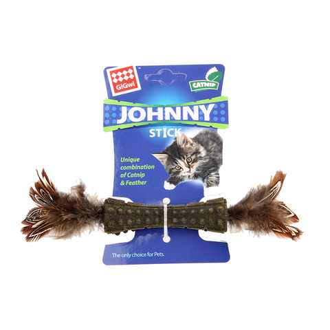 Gigwi Johnny Stick Catnip with Feathers