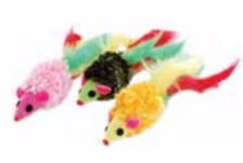 Fluffy Tail Mice - 3 Pack