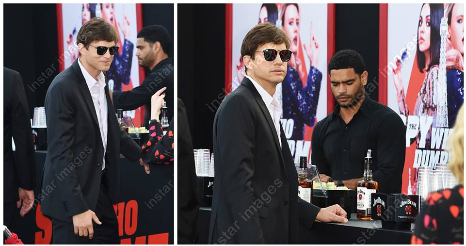 Check out the below images of Ashton Kutcher rocking The London at last night's The Spy Who Dumped Me Premiere!