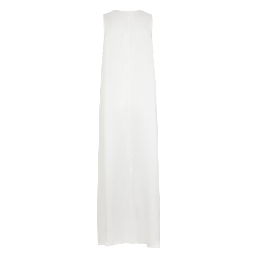 Maxi Dress in White Silk