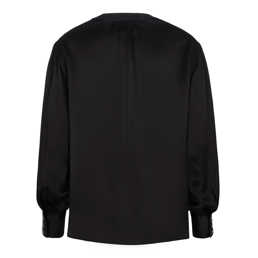 Poet Blouse in Black Silk
