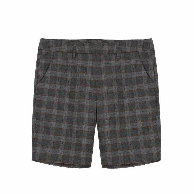 Long M.I.N.Y. Pant™ in Chocolate/Blue Plaid