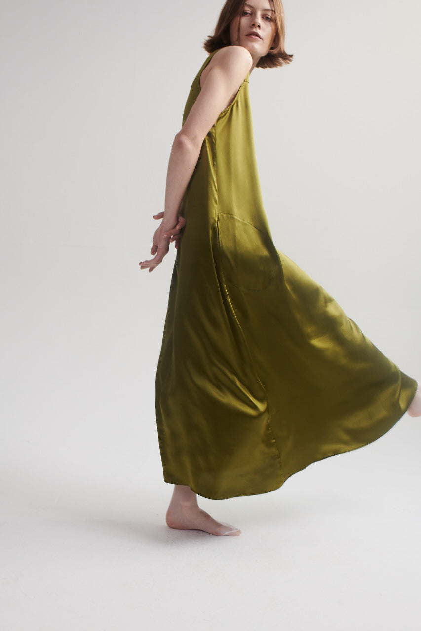 Maxi Dress in Chartreuse
