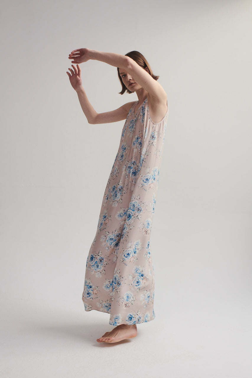 Maxi Dress in Pink Floral