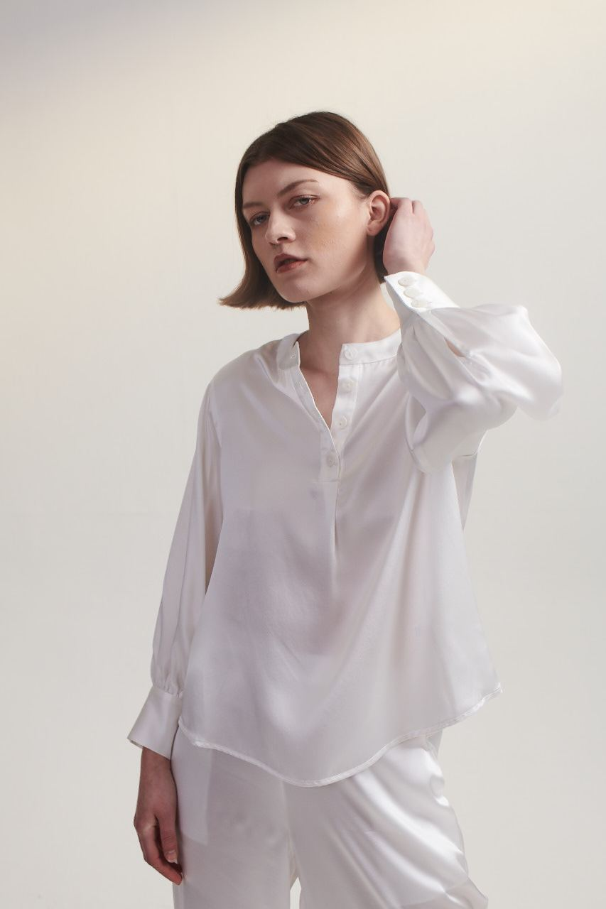 Poet Blouse in White