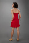 Strapless Swing Dress in Red