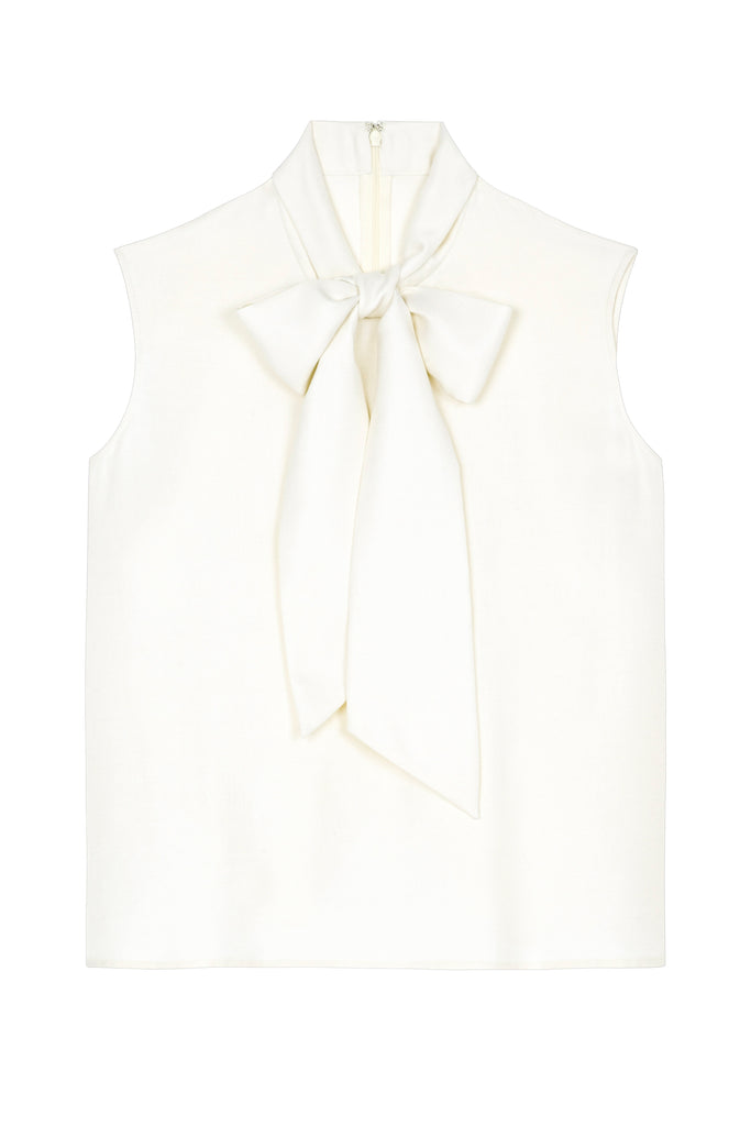 Bow Blouse in White