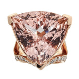 Morganite & Diamond Ring in 18K Rose Gold