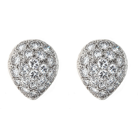Diamond & Platinum/14K White Gold Earrings