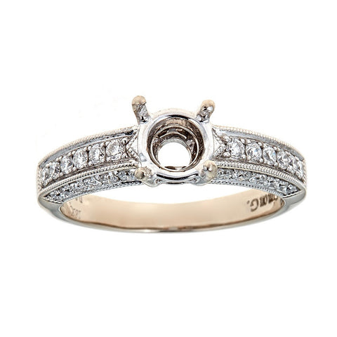 Simon G. 18K White Gold & Diamond Ring