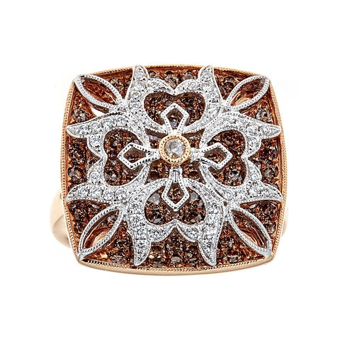 Gregg Ruth 18K Rose Gold & Diamond Ring