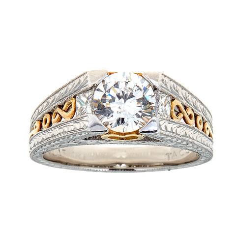 Tacori Two-Tone Platinum & Diamond Engagement Ring