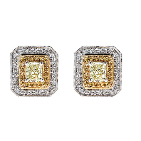 Natalie K. 14K White Gold & Diamond Earrings