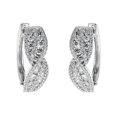 Gregg Ruth 18K White Gold & Diamond Earrings