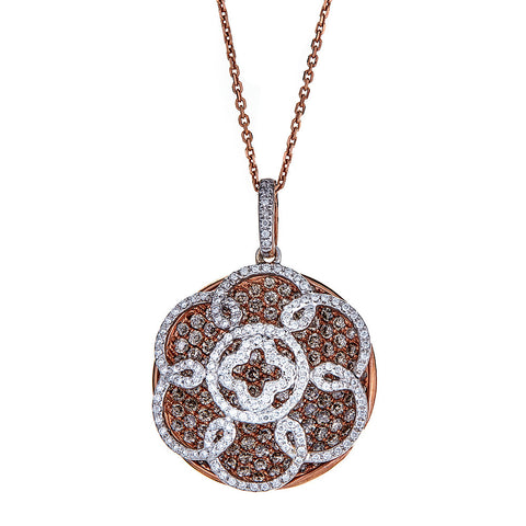 Gregg Ruth 18K Rose Gold & Diamond Pendant