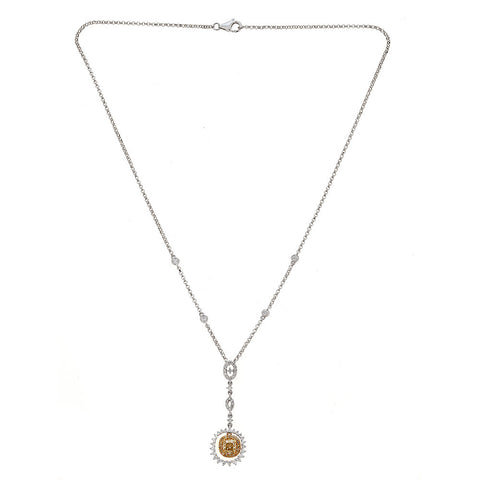 Natalie K. Yellow & White Diamond 18K White Gold Necklace