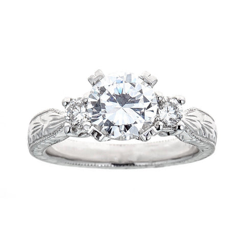 Tacori Platinum and Diamonds Engagement Ring