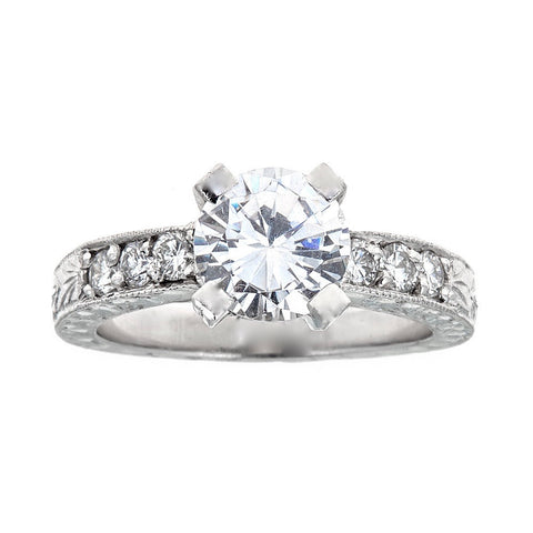 hearts context ring signature on fire engagement p large rings diamond platinum