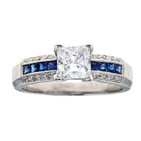 Tacori Platinum Sapphire & Diamond Engagement Ring