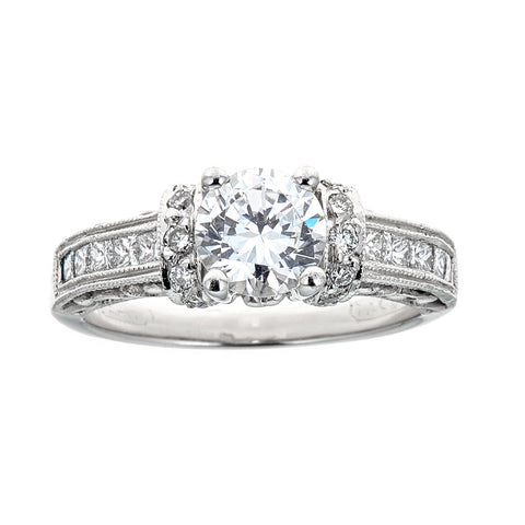 banque solid platinum products ring engagement rings diamond carat i