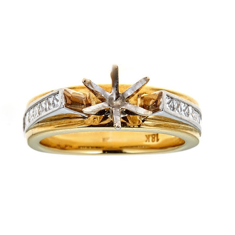 Tacori 18K Two-Tone Gold & Diamond Engagement Ring