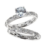 Tacori Platinum Engagement & Wedding Ring Set
