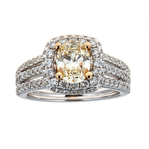 14K Two-Tone Gold & Diamond Ring