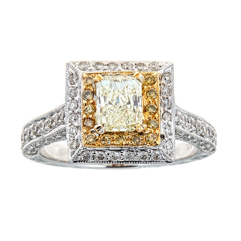18K Two-Tone Gold & Diamond Ring