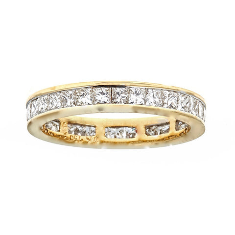 18K Yellow Gold & Diamond Band Ring