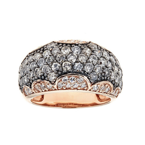 Black & White Diamond 14K Rose Gold Ring