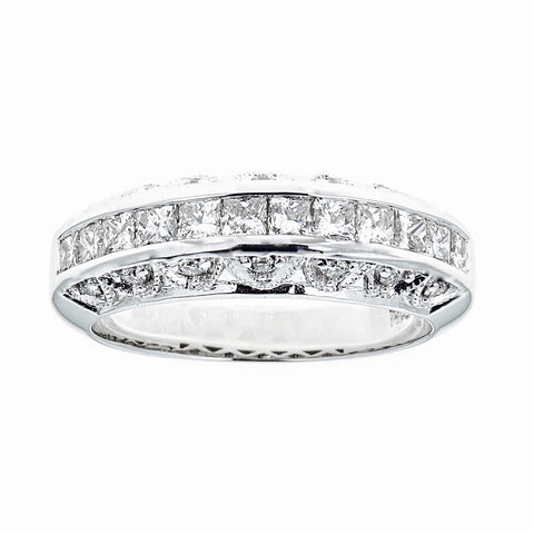 14K White Gold & Diamonds Ring