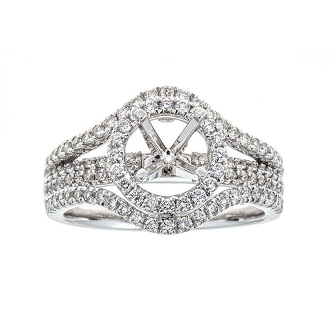 14k White Gold and Diamonds ring