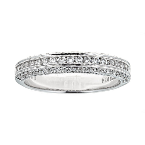Natalie K 14k White Gold & Diamond Ring
