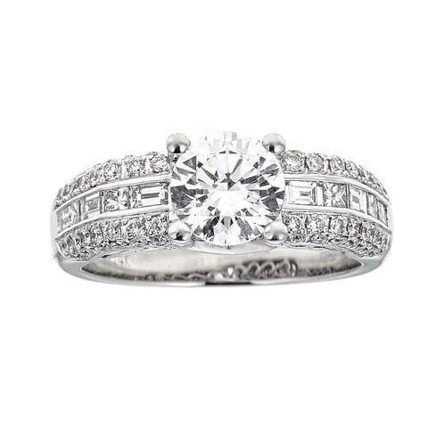 Simon G. 14K White Gold & Diamond Engagement Ring