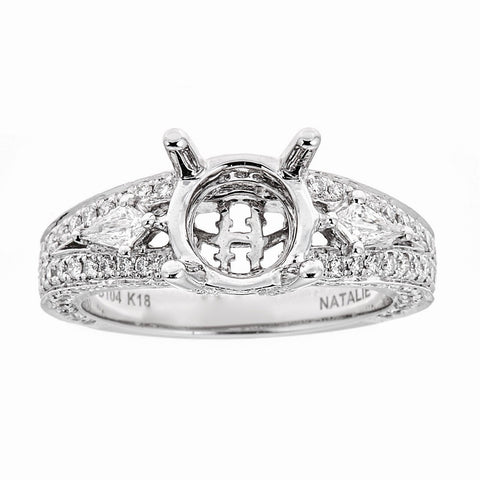 Natalie K 18k White Gold and Diamonds Engagement Ring