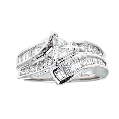 14K White Gold & Diamond Ring