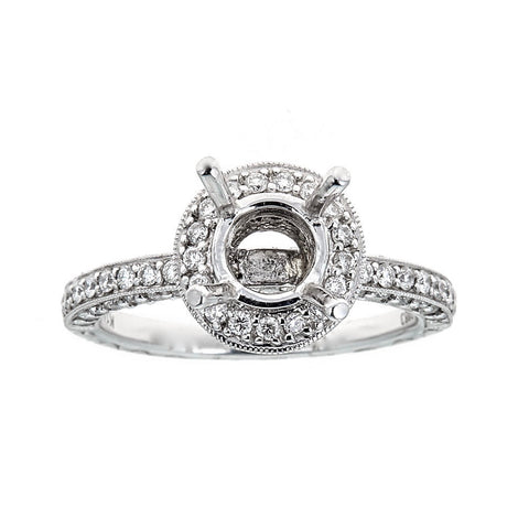 Natalie K 14k White Gold and Diamonds Engagement Ring