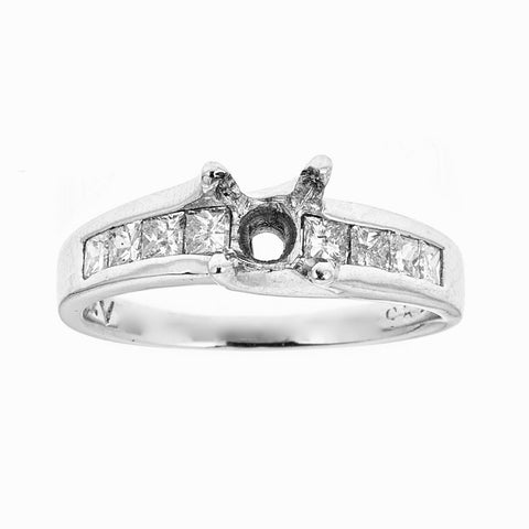 Platinum and Diamonds Engagement Ring
