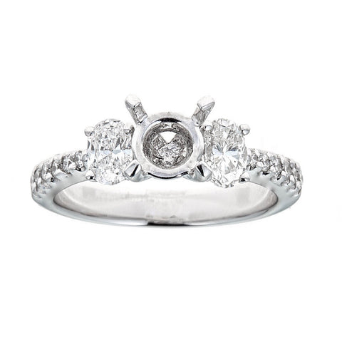 Natalie K 18k White Gold & Diamonds Engagement Ring