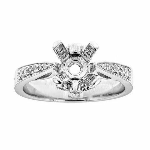 18k White Gold & Diamonds Engagement Ring