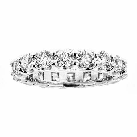 14k White Gold and Diamonds Eternity Band