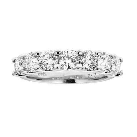 14k White Gold and Diamonds Band