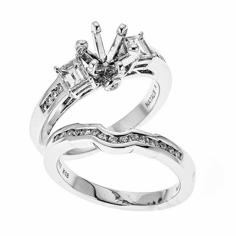 Natalie K 18k White Gold and Diamonds Wedding Set